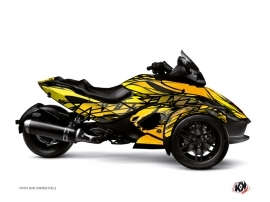 Can Am Spyder RS Roadster Eraser Graphic Kit Yellow