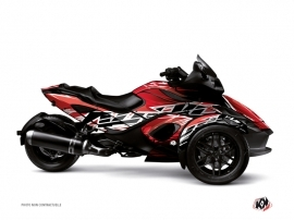Kit Déco Hybride Eraser Can Am Spyder RS Rouge Blanc