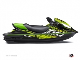 Kawasaki STX 15F Jet-Ski Eraser Graphic Kit Black Green