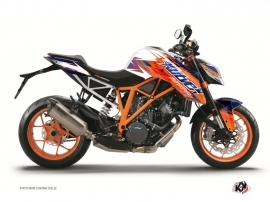 Kit Déco Moto Eraser KTM Duke 1290 R Bleu Orange