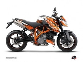 Kit Déco Moto Eraser KTM Super Duke 990 Orange Noir