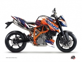 Kit Déco Moto Eraser KTM Duke 990 R Bleu Orange