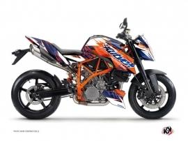 Kit Déco Moto Eraser KTM Duke 990 R Bleu Orange