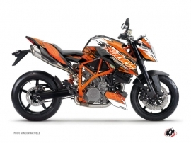 Kit Déco Moto Eraser KTM Duke 990 R Orange Noir