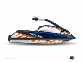 Kit Déco Jet Ski Eraser Yamaha Superjet Bleu Orange