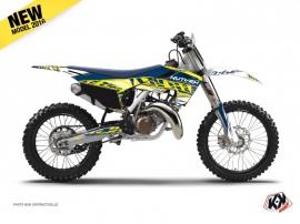 Husqvarna TC 250 Dirt Bike Eraser Graphic Kit Yellow Blue