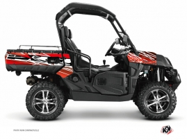 CF Moto U Force 800 UTV Eraser Graphic Kit Red White