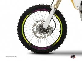 Kit Déco Tour de jantes Moto Cross Eraser Vert