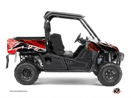 Yamaha Viking UTV Eraser Graphic Kit Red White