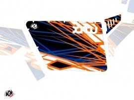 Kit Déco Portes Standard XRW Eraser SSV Polaris RZR 570/800/900 2008-2014 Bleu Orange