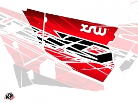 Graphic Kit Doors Standard XRW Eraser UTV Polaris RZR 900S/1000/Turbo 2015-2017 Red White