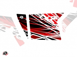 Kit Déco Portes Suicide XRW Eraser SSV Polaris RZR 570/800/900 2008-2014 Rouge Blanc