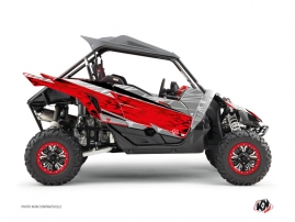 Yamaha YXZ 1000 R UTV Eraser Graphic Kit Grey Red