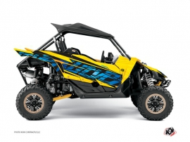 Yamaha YXZ 1000 R UTV Eraser Graphic Kit Yellow Blue