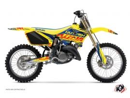 Kit Déco Moto Cross Eraser Suzuki 125 RM Bleu - Jaune