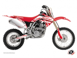 Honda 150 CRF Dirt Bike Eraser Graphic Kit White Red