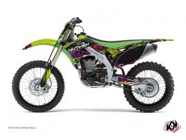 Kit Déco Moto Cross Eraser Kawasaki 250 KXF Vert