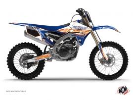 Kit Déco Moto Cross Eraser Yamaha 250 YZF Bleu - Orange