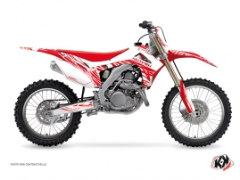 Kit Déco Moto Cross Eraser Honda 450 CRF Blanc Rouge