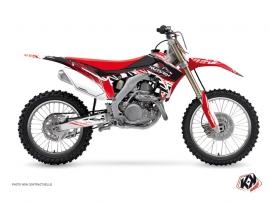 Kit Déco Moto Cross Eraser Honda 450 CRF Rouge Blanc
