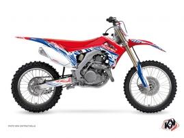 Kit Déco Moto Cross Eraser Honda 450 CRF Rouge Bleu
