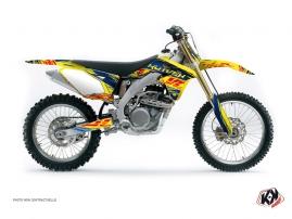 Kit Déco Moto Cross ERASER Suzuki 450 RMZ Bleu Jaune