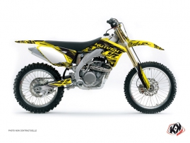 Suzuki 450 RMZ Dirt Bike Eraser Graphic Kit Yellow Black