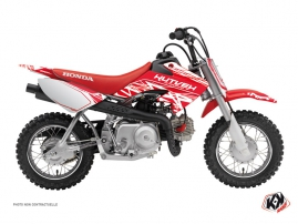 Kit Déco Moto Cross Eraser Honda 50 CRF Blanc - Rouge