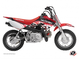 Kit Déco Moto Cross Eraser Honda 50 CRF Rouge - Blanc