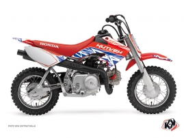 Kit Déco Moto Cross Eraser Honda 50 CRF Rouge - Bleu