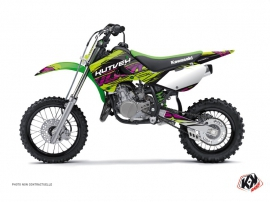 Kawasaki 65 KX Dirt Bike Eraser Graphic Kit Green