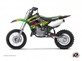 Kit Déco Moto Cross Eraser Kawasaki 65 KX Vert