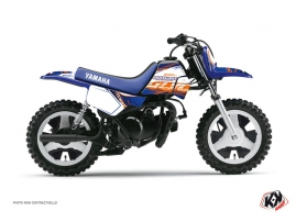 Kit Déco Moto Cross Eraser Yamaha PW 50 Bleu-Orange