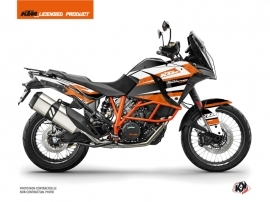 Kit Déco Moto Eskap KTM 1290 Super Adventure R Orange Blanc