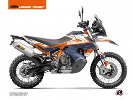Kit Déco Moto Eskap KTM 890 Adventure R Bleu Orange