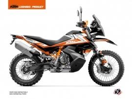 Kit Déco Moto Eskap KTM 890 Adventure R Orange Blanc