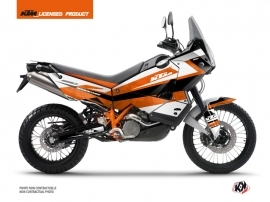 KTM 990 Adventure Street Bike Eskap Graphic Kit Orange White