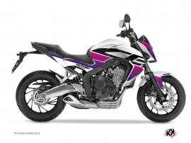Kit Déco Moto Essential Honda CB 650 F Rose Blanc