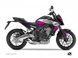 Kit Déco Moto Essential Honda CB 650 F Rose Noir