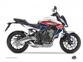 Kit Déco Moto Essential Honda CB 650 F Rouge Bleu