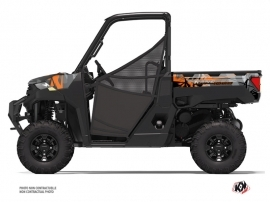 Polaris Ranger 1000 UTV Evil Graphic Kit Grey Orange