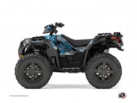 Polaris 1000 Sportsman XP Forest ATV Evil Graphic Kit Grey Blue