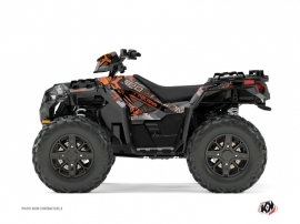 Polaris 1000 Sportsman XP Forest ATV Evil Graphic Kit Grey Orange
