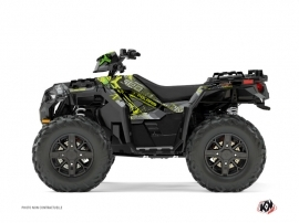 Polaris 1000 Sportsman XP Forest ATV Evil Graphic Kit Grey Green