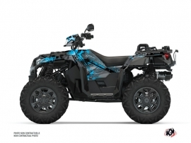 Polaris 1000 Sportsman XP S Forest ATV Evil Graphic Kit Grey Blue