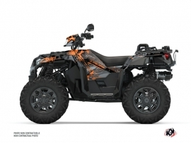 Polaris 1000 Sportsman XP S Forest ATV Evil Graphic Kit Grey Orange