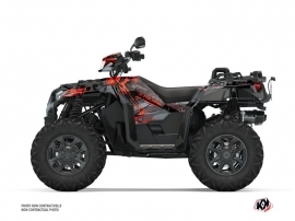Polaris 1000 Sportsman XP S Forest ATV Evil Graphic Kit Grey Red