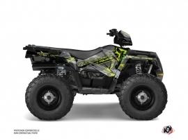 Polaris 450 Sportsman ATV Evil Graphic Kit Grey Green