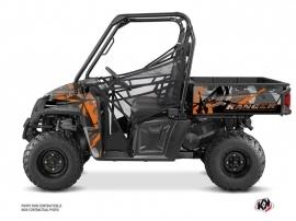 Polaris Ranger 570 FULL UTV Evil Graphic Kit Grey Orange