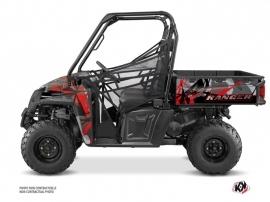Polaris Ranger 570 FULL UTV Evil Graphic Kit Grey Red